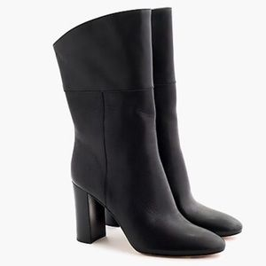 J. Crew leather midcalf high-heel boots